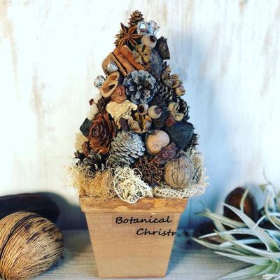 11月 長野 飯田1dayレッスン『木の実のクリスマスツリー』作り