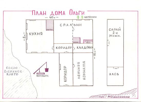 План дома Ольги
