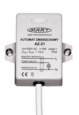 AZ-21 Dämmerungsschalter 230V 4000W fest eingestellter Schaltwert <15lx
