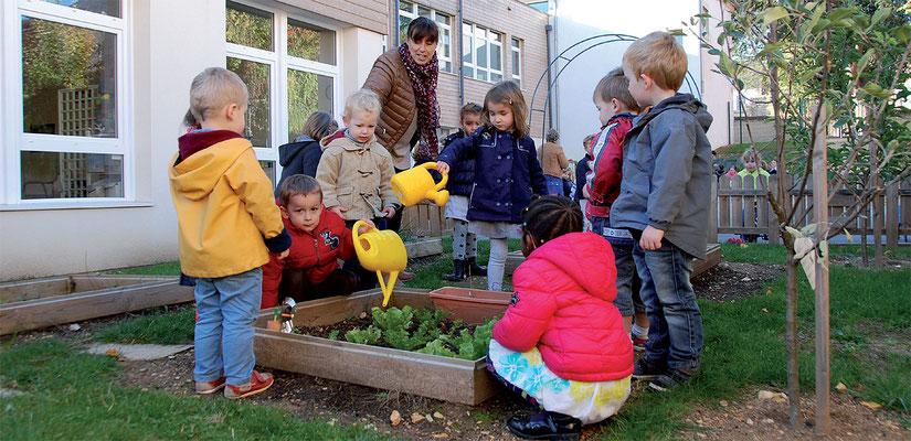 École Saint-Étienne | Le jardin pédagogique (Maternelle)