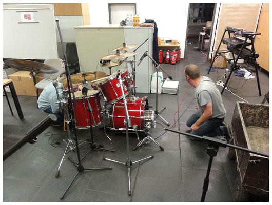 Tag 1: Mikrofonierung des Schlagzeugs