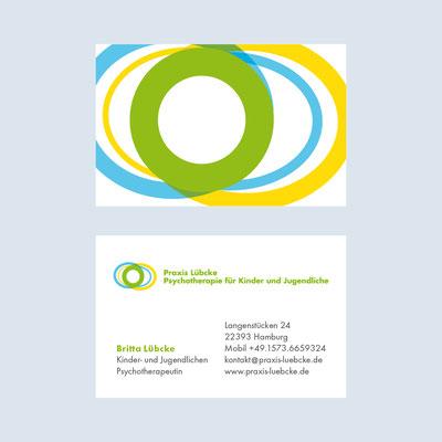 Britta Lübke – Kinder- und Jugendlichenpsychotherapeutin, Visitenkarte