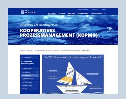 Kooperatives Prozessmanagement – KOPM® der HAW Hamburg, Website