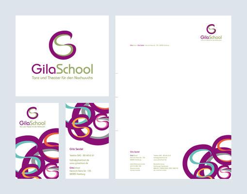 GilaSchool – Tanz und Theater für den Nachwuchs, Geschäftsausstattung