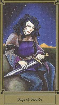 Page d'Épées - Le tarot Fantastique