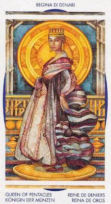 Reine de Deniers - Le tarot Crystal