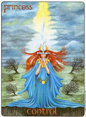 Princesse d'Épées - Gill Tarot