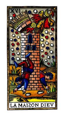 XVI La Maison Dieu - Le Tarot de la Félicité