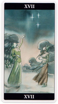 XVII L'Étoile - Le tarot de l'Enchanteresse des Rêves