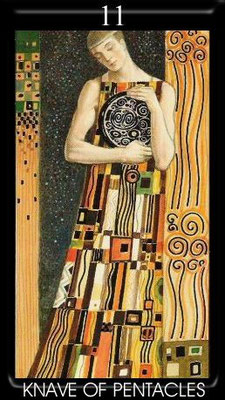 Valet de Deniers - Golden Tarot of Klimt