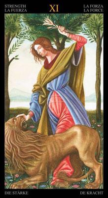 XI La Force - Le tarot doré de Botticelli