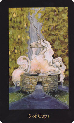 5 de Coupes - Mary El Tarot