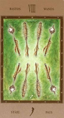 8 de Bâtons - Labyrinth Tarot