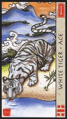 As du Tigre Blanc - Le Tarot Feng Shui