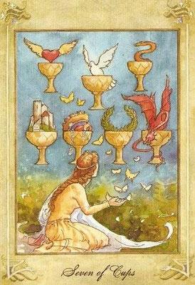 7 de Coupes - Llewellyn Tarot