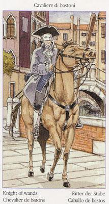 Tarot de Casanova - Érotique - Cavalier de Bâtons
