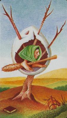 As de Bâtons - Le tarot Bosh