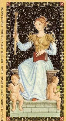 Golden Tarot of the Renaissance - Reine de Bâton