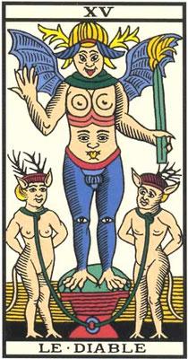 XV Le Diable - Tarot de Marseille