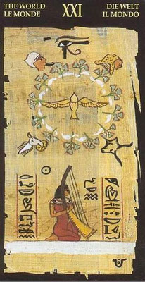 XXI Le Monde - Le tarot Égyptien