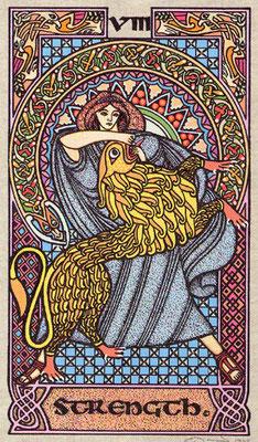 VIII La Force - Le tarot Celtique