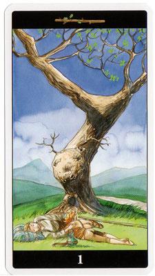 As de Bâtons - Le tarot de l'Enchanteresse des Rêves