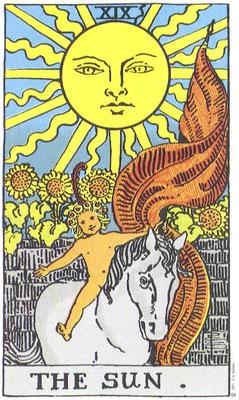 XIX Le Soleil - Tarot Rider Waite Smith