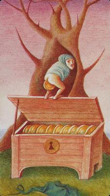 10 de Deniers - Le tarot Bosh