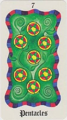 7 de Pentacles - Le Tarot Fenton-Bale