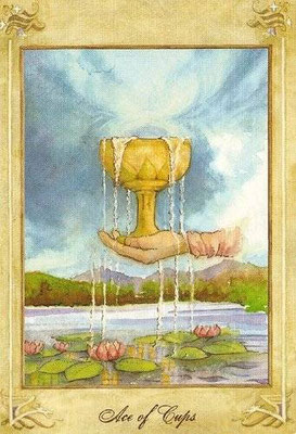 As de Coupes - Llewellyn Tarot