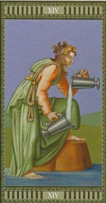 Tarot Michelangelo - XIV La Tempérance