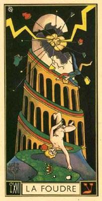 XVI La Tour - Le tarot d'Argolance