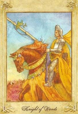 Chevalier de Bâtons - Llewellyn Tarot