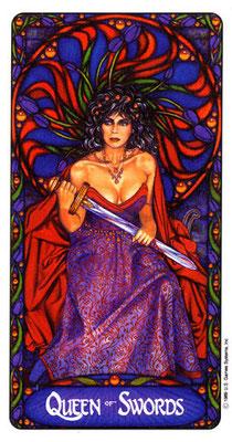 Reine d'Épées - Le tarot Art Nouveau de Myers