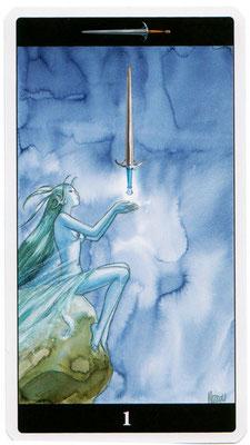 As d'Épées - Le tarot de l'Enchanteresse des Rêves
