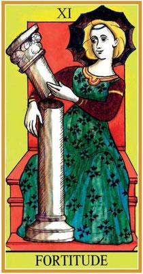 XI La Force - Le tarot de la Roue de Dame Fortune