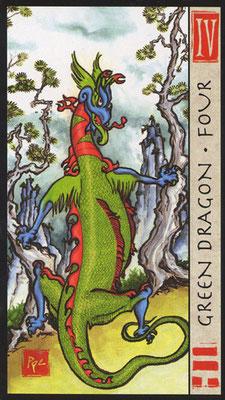 4 du Dragon Vert - Le Tarot Feng Shui