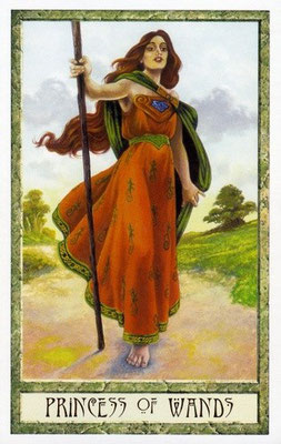 Princess de Bâtons - Le tarot Druid Craft
