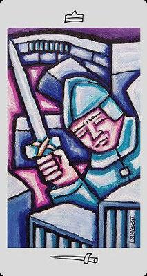 Chevalier d'Épées - Langustl Tarot