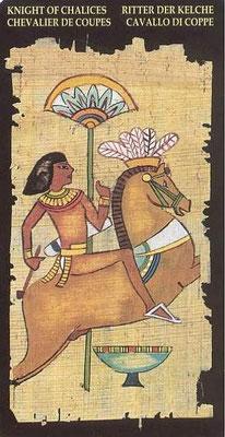 Chevalier de Coupes - Le tarot Égyptien
