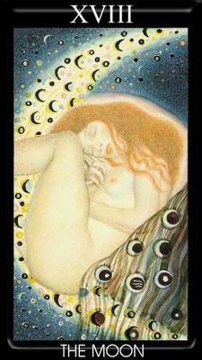 XVIII La Lune - Tarot Klimt
