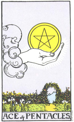 As de Pentacles - Tarot Rider Waite Smith