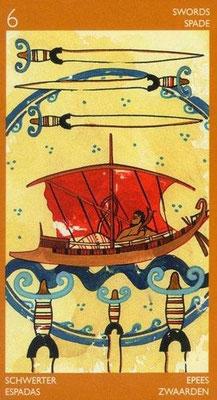 6 d'Épées - Le tarot Étrusque