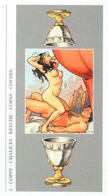 Decameron Tarot - Érotique - 2 de Coupes