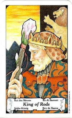 Hanson Roberts Tarot - Roi de Bâtons