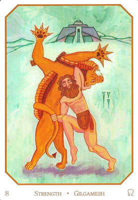 VIII La Force - Le tarot Babylonien