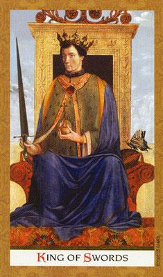 Golden Tarot - Roi d'Épée