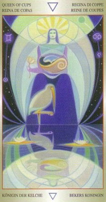 Reine de Coupes - Liber T Stars Eternal Tarot