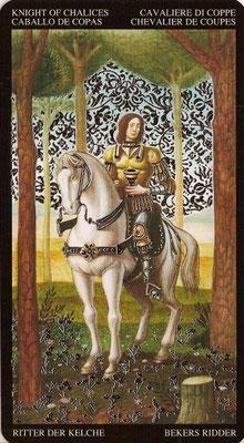 Chevalier de Coupes - Tarot Doré de Botticelli