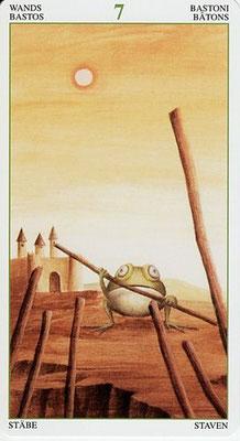 7 de Bâtons - Le Tarot de la Forêt Magique